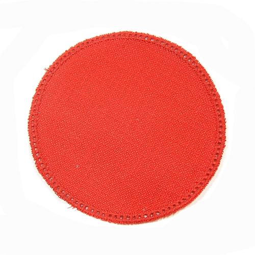 Anhäkelform/Lochranddeckchen Kreis d=12cm rot, Klöppelwerkstatt, klöppeln, häkeln