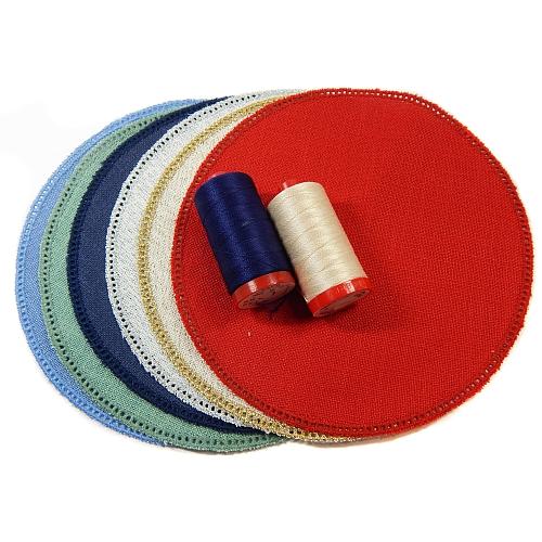 Anhäkelform/Lochranddeckchen Kreis d=20cm 6 Farben, in der Klöppelwerkstatt