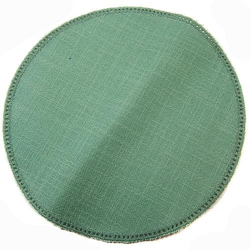 Anhäkelform/Lochranddeckchen Kreis d=20cm grün, in der Klöppelwerkstatt