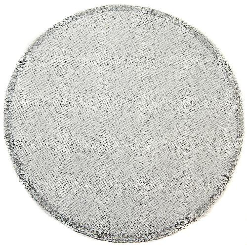 Anhäkelform/Lochranddeckchen Kreis d=20cm silber-lurex in der Klöppelwerstatt