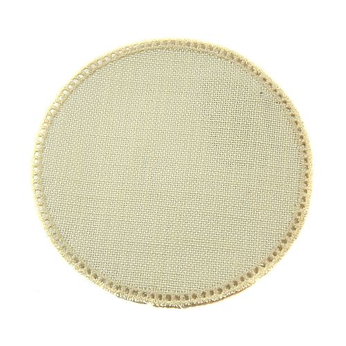 Anhäkelform/Lochranddeckchen Kreis d=12cm halbgebleicht, Klöppelwerkstatt, klöppeln, häkeln