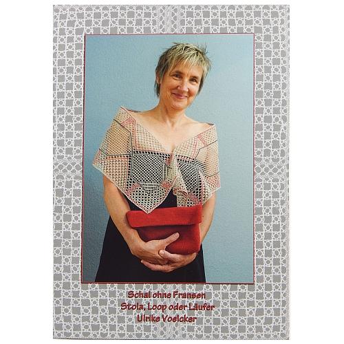 Klöppelbrief Schal ohne Fransen ~ Ulrike Voelcker, Titelblatt zum klöppeln, Torchongrund, Schal, Loop, Tischband in der Klöppelwerkstatt erhältlich