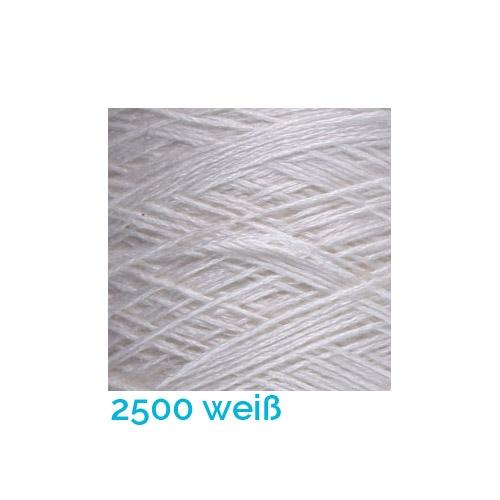 Schappe Seide Nm 120/2 x 4 Farbe 2500 weiß, in der Klöppelwerkstatt, zm Stricken, Häkeln, Weben, für Kumihimo und zum Klöppeln geeignet, Seidengarn, Seidengarne