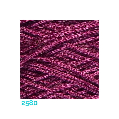 Schappe Seide Nm 120/2 x 4 Farbe 2580, in der Klöppelwerkstatt, zm Stricken, Häkeln, Weben, für Kumihimo und zum Klöppeln geeignet, Seidengarn, Seidengarne