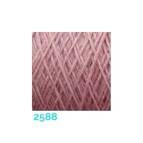 Schappe Seide Nm 120/2 x 4 Farbe 2588, in der Klöppelwerkstatt, zm Stricken, Häkeln, Weben, für Kumihimo und zum Klöppeln geeignet, Seidengarn, Seidengarne