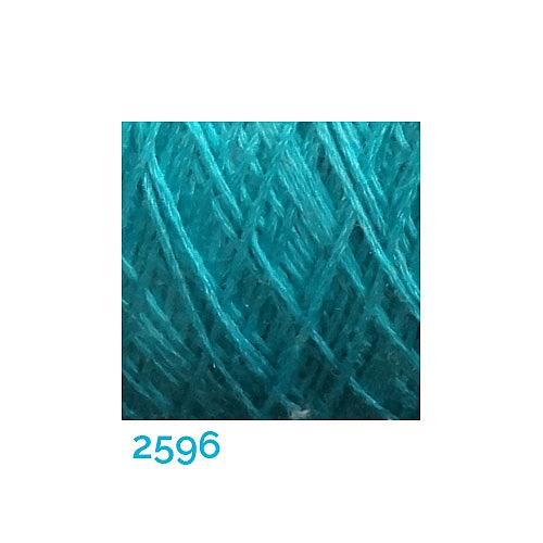 Schappe Seide Nm 120/2 x 4 Farbe 2596, in der Klöppelwerkstatt, zm Stricken, Häkeln, Weben, für Kumihimo und zum Klöppeln geeignet, Seidengarn, Seidengarne
