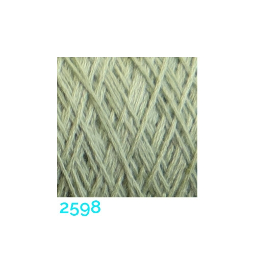 Schappe Seide Nm 120/2 x 4 Farbe 2598 in der Klöppelwerkstatt, zm Stricken, Häkeln, Weben, für Kumihimo und zum Klöppeln geeignet, Seidengarn, Seidengarne