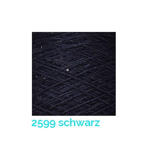 Schappe Seide Nm 120/2 x 4 Farbe 2599 schwarz, in der Klöppelwerkstatt, zm Stricken, Häkeln, Weben und Klöppeln geeignet, Seidengarn, Seidengarne