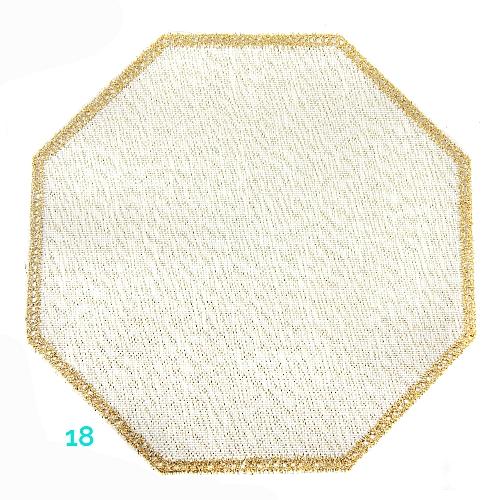 Anhäkelform Achteck Farbe: 18, 19 cm x 19 cm von der Firma Zweigart in 15 Farben erhältlich, zum Klöppeln, Häkeln, in der Klöppelwerkstatt erhältlich.