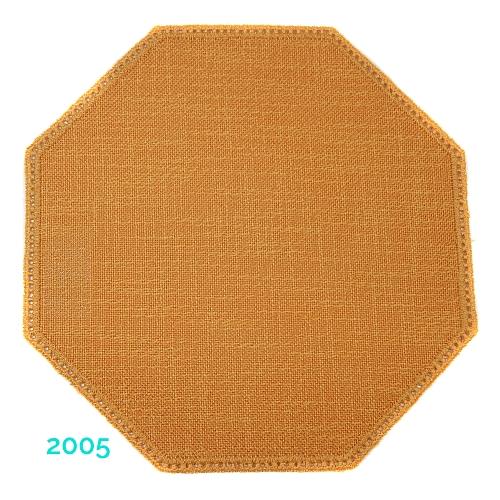 Anhäkelform Achteck Farbe: 2005, 19 cm x 19 cm von der Firma Zweigart in 15 Farben erhältlich, zum Klöppeln, Häkeln, in der Klöppelwerkstatt erhältlich.