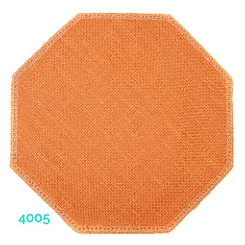 Anhäkelform Achteck Farbe: 4005, 19 cm x 19 cm von der Firma Zweigart in 15 Farben erhältlich, zum Klöppeln, Häkeln, in der Klöppelwerkstatt erhältlich.