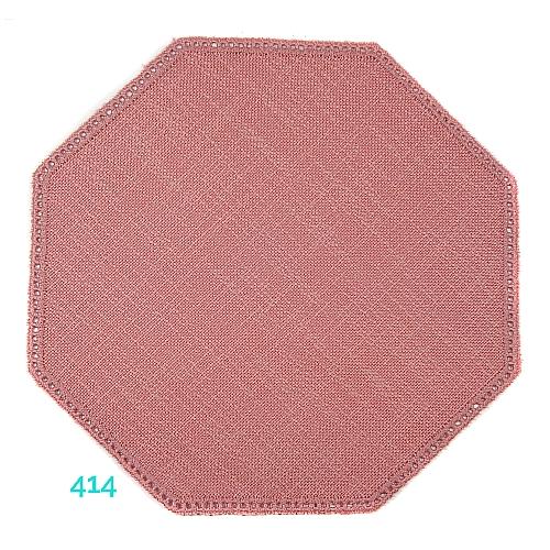 Anhäkelform Achteck Farbe: 414, 19 cm x 19 cm von der Firma Zweigart in 15 Farben erhältlich, zum Klöppeln, Häkeln, in der Klöppelwerkstatt erhältlich.