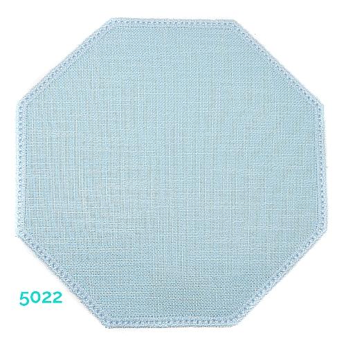 Anhäkelform Achteck Farbe: 5022, 19 cm x 19 cm von der Firma Zweigart in 15 Farben erhältlich, zum Klöppeln, Häkeln, in der Klöppelwerkstatt erhältlich.
