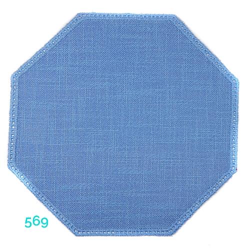 Anhäkelform AchteckFarbe: 569, 19 cm x 19 cm von der Firma Zweigart in 15 Farben erhältlich, zum Klöppeln, Häkeln, in der Klöppelwerkstatt erhältlich.