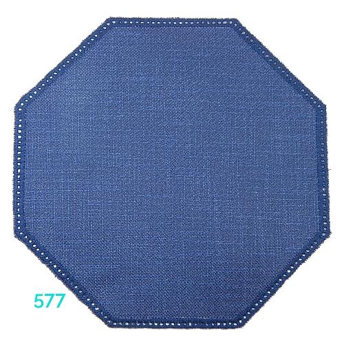 Anhäkelform Achteck Farbe: 577, 19 cm x 19 cm von der Firma Zweigart in 15 Farben erhältlich, zum Klöppeln, Häkeln, in der Klöppelwerkstatt erhältlich.