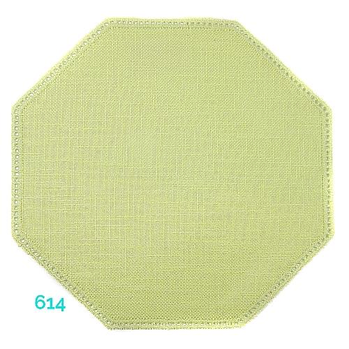 Anhäkelform Achteck Farbe: 614, 19 cm x 19 cm von der Firma Zweigart in 15 Farben erhältlich, zum Klöppeln, Häkeln, in der Klöppelwerkstatt erhältlich.