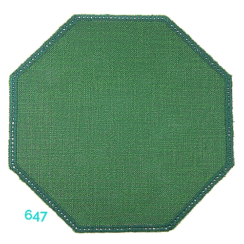 Anhäkelform Achteck Farbe: 647, 19 cm x 19 cm von der Firma Zweigart in 15 Farben erhältlich, zum Klöppeln, Häkeln, in der Klöppelwerkstatt erhältlich.