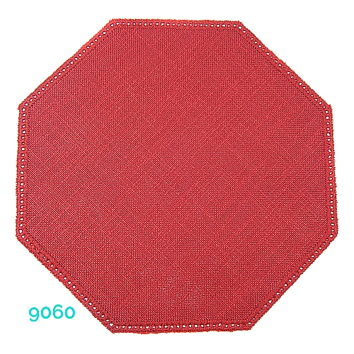 Anhäkelform Achteck Farbe: 9060, 19 cm x 19 cm von der Firma Zweigart in 15 Farben erhältlich, zum Klöppeln, Häkeln, in der Klöppelwerkstatt erhältlich.