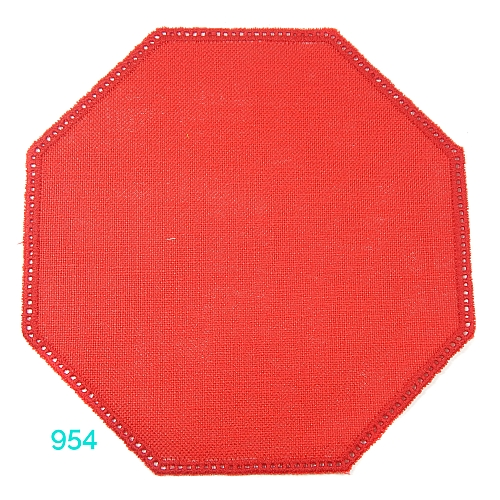 Anhäkelform Achteck Farbe: 954, 19 cm x 19 cm von der Firma Zweigart in 15 Farben erhältlich, zum Klöppeln, Häkeln, in der Klöppelwerkstatt erhältlich.