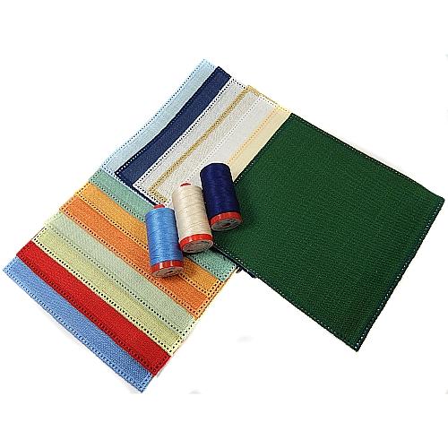 Anhäkelform Quadrat 20 cm x 20 cm, lochranddeckchen von der Firma Zweigart, zum häkeln, klöppeln, in der Klöppelwerkstatt in 15 Farben erhältlich