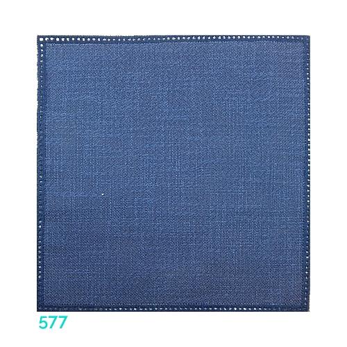 Anhäkelform Quadrat 20 cm x 20 cm, Lochranddeckchen von der Firma Zweigart, zum häkeln, klöppeln, in der Klöppelwerkstatt erhältlich. Farbe: 577 dunkel-blau