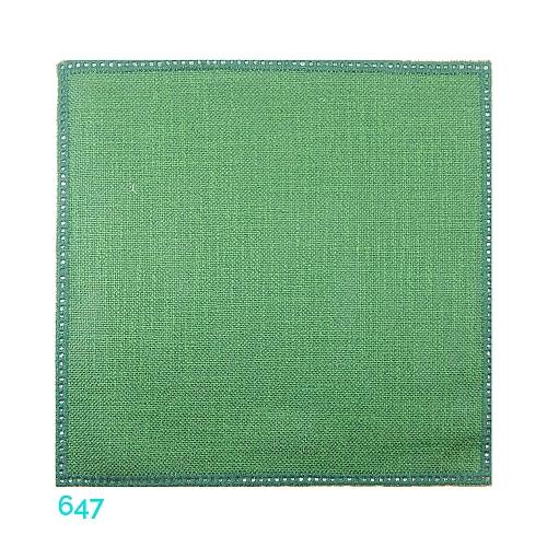Anhäkelform Quadrat 20 cm x 20 cm, Lochranddeckchen von der Firma Zweigart, zum häkeln, klöppeln, in der Klöppelwerkstatt erhältlich. Farbe: 647 dunkel-grün