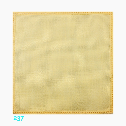 Anhäkelform Quadrat 20 cm x 20 cm, Lochranddeckchen von der Firma Zweigart, zum häkeln, klöppeln, in der Klöppelwerkstatt erhältlich. Farbe: 237 hellgelb