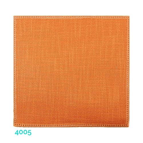 Anhäkelform Quadrat 20 cm x 20 cm, Lochranddeckchen von der Firma Zweigart, zum häkeln, klöppeln, in der Klöppelwerkstatt erhältlich. Farbe: 4005 ocker