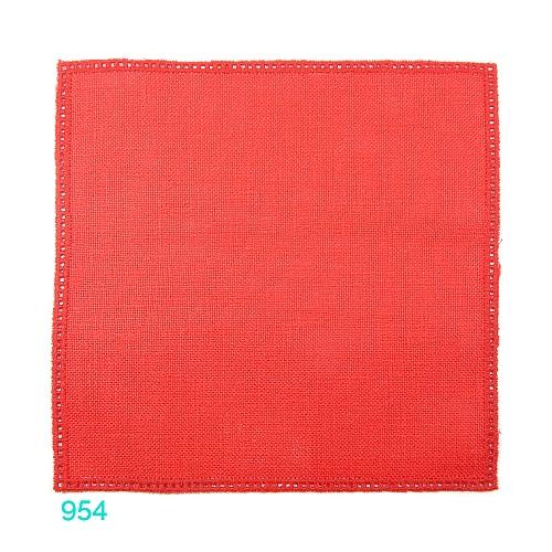 Anhäkelform Quadrat 20 cm x 20 cm, Lochranddeckchen von der Firma Zweigart, zum häkeln, klöppeln, in der Klöppelwerkstatt erhältlich. Farbe: 954 rot