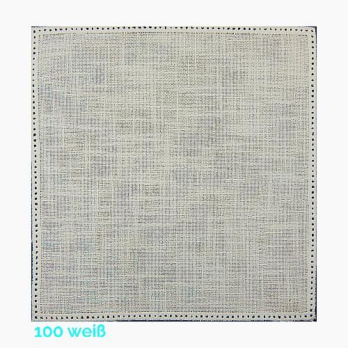 Anhäkelform Quadrat 20 cm x 20 cm, Lochranddeckchen von der Firma Zweigart, zum häkeln, klöppeln, in der Klöppelwerkstatt erhältlich. Farbe: 100 weiß