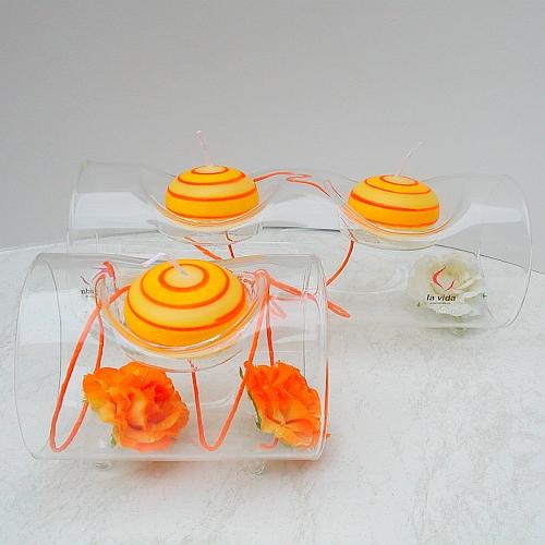 Glasleuchter Surprise 10 cm oder 20 cm Länge, Röhre für ein oder zwei Teelichter von La Vida, in der Klöppelwerkstatt, Klöppelbriefe erhältlich