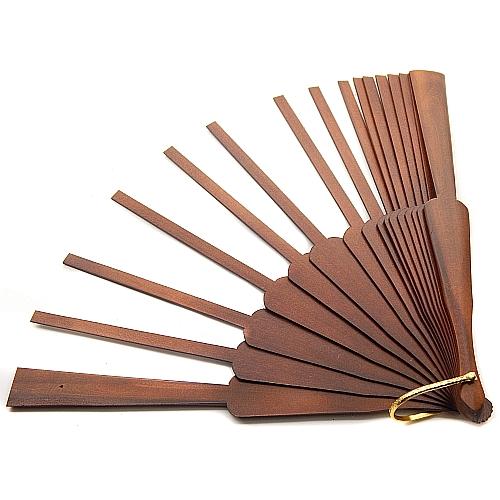 Fächer Modell Girona & Brief Torchonspitze 12, in der Klöppelwerkstatt erhältlich, geklöppelter Fächer, Fächergestell Mahagonie lakiert