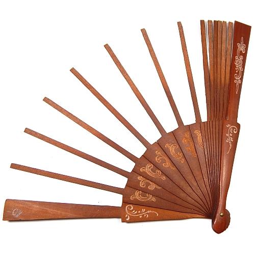 Fächergestell Modell Peral Grabado, spanischer Fächer in Peral, mit Gravur, in der Klöppelwerkstatt erhältlich