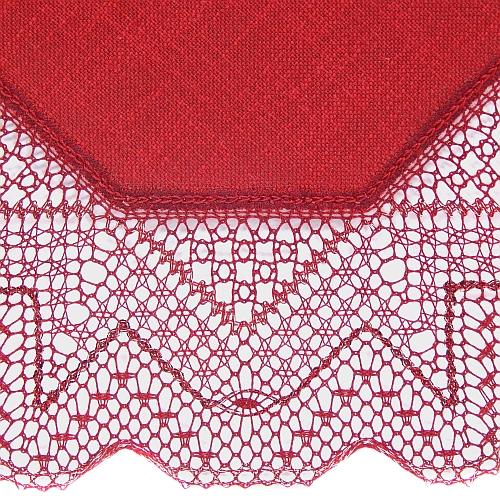 Klöppelbrief Anhäkelform Achteck ~ Marie-Luise Prinzhorn, geklöppelte Spitze mit Aurifil geklöppelt, in der Klöppelwerkstatt erhältlich. Das Lochranddeckchen von Zweigart hat die Farb-Nr. 4060, Detailzeichnung