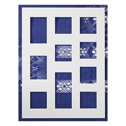 Passepartout ~ 10 Ausschnitte, in weiß, eine schöne Möglichkeit um Spitze attraktiv zu zeigen, in der Klöppelwerkstatt, Häkeln, Klöppeln, Sticken, Fotos, Bild ohne Spitze