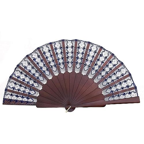Fächer Modell Girona & Brief Torchonspitze 12, in der Klöppelwerkstatt erhältlich, geklöppelter Fächer
