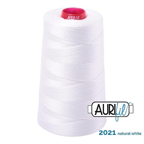 AURIFIL Baumwollgarn - 140 g Spule - Klöppelwerkstatt in 270 Farben erhältlich, hervorragend zum klöppeln, sticken, quilten, stricken, patchwork, nähen, häkelnStärke 12wt Farbe 2011 natural white