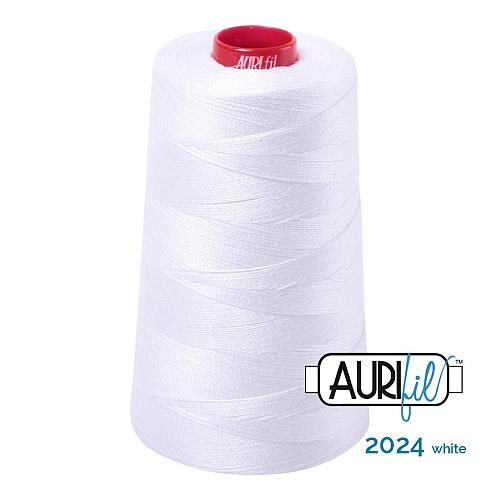 AURIFIL Baumwollgarn - 140 g Spule - Klöppelwerkstatt in 270 Farben erhältlich, hervorragend zum klöppeln, sticken, quilten, stricken, patchwork, nähen,häkeln, Stärke 12wt Farbe 2024 white