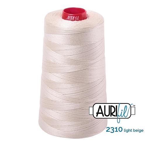 AURIFIL Baumwollgarn - 140 g Spule - Klöppelwerkstatt in 270 Farben erhältlich, hervorragend zum klöppeln, sticken, quilten, stricken, patchwork, nähen, häkeln Stärke 12wt Farbe 2310 light natural