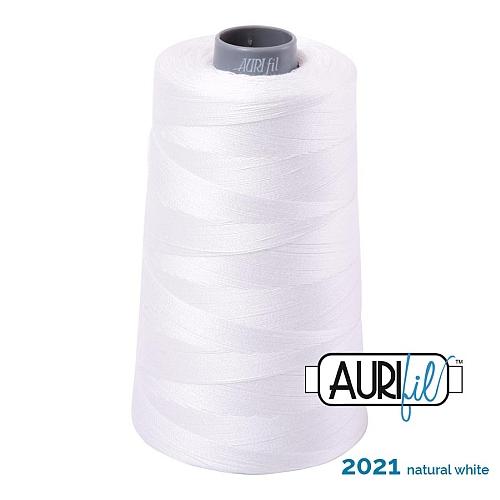 AURIFIL Baumwollgarn - 140 g Spule - Klöppelwerkstatt in 270 Farben erhältlich, hervorragend zum klöppeln, sticken, quilten, stricken, patchwork, nähen, häkelnStärke 28wt Farbe 2011 natural white
