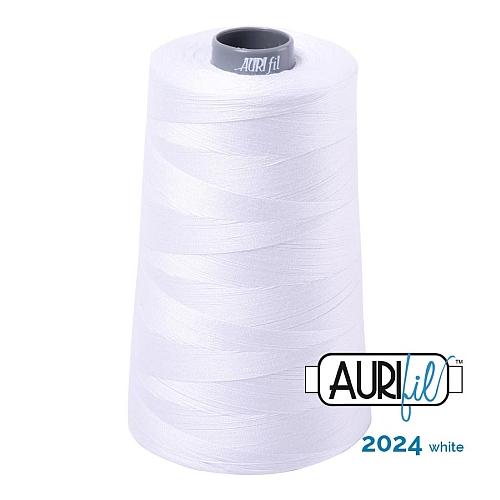 AURIFIL Baumwollgarn - 140 g Spule - Klöppelwerkstatt in 270 Farben erhältlich, hervorragend zum klöppeln, sticken, quilten, stricken, patchwork, nähen,häkeln, Stärke 28wt Farbe 2024 white
