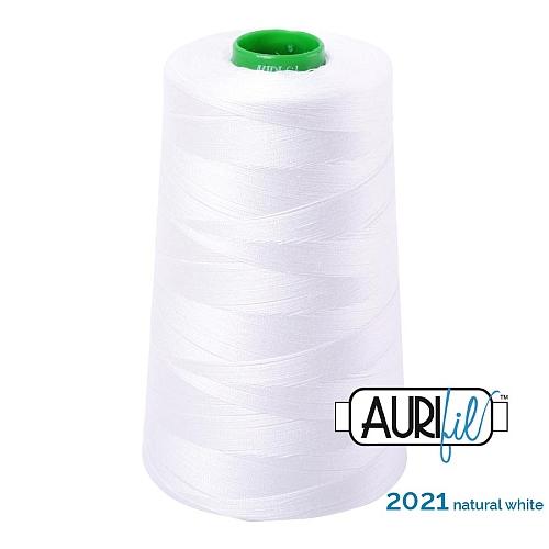 AURIFIL Baumwollgarn - 140 g Spule - Klöppelwerkstatt in 270 Farben erhältlich, hervorragend zum klöppeln, sticken, quilten, stricken, patchwork, nähen, häkelnStärke 40wt Farbe 2011 natural white