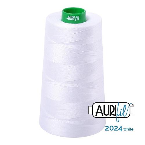AURIFIL Baumwollgarn - 140 g Spule - Klöppelwerkstatt in 270 Farben erhältlich, hervorragend zum klöppeln, sticken, quilten, stricken, patchwork, nähen,häkeln, Stärke 40wt Farbe 2024 white