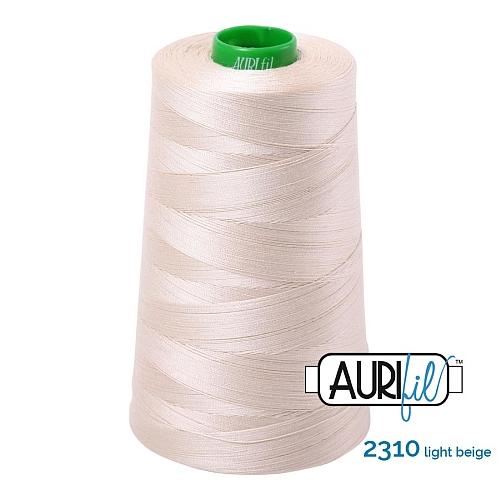 AURIFIL Baumwollgarn - 140 g Spule - Klöppelwerkstatt in 270 Farben erhältlich, hervorragend zum klöppeln, sticken, quilten, stricken, patchwork, nähen, häkeln Stärke 40wt Farbe 2310 light natural