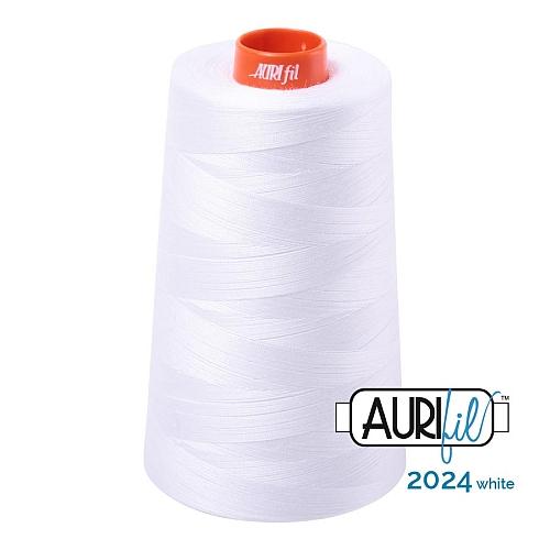 AURIFIL Baumwollgarn - 140 g Spule - Klöppelwerkstatt in 270 Farben erhältlich, hervorragend zum klöppeln, sticken, quilten, stricken, patchwork, nähen,häkeln, Stärke 50wt Farbe 2024 white