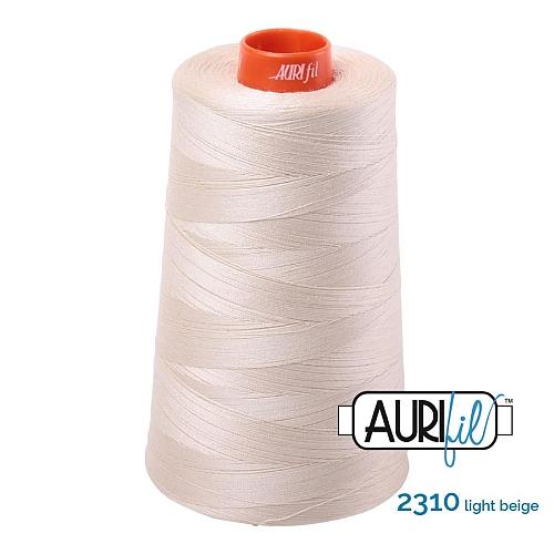 AURIFIL Baumwollgarn - 140 g Spule - Klöppelwerkstatt in 270 Farben erhältlich, hervorragend zum klöppeln, sticken, quilten, stricken, patchwork, nähen, häkeln Stärke 50wt Farbe 2310 light natural