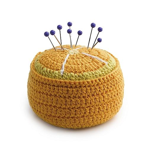 Nadelkissen/Fixiergewicht Prym Love Orange, Kiwi oder Melone Doppelter Nutzen: Nadelkissen & Fixiergewicht, in der Klöppelwerkstatt, zum Nähen, Patchwork, quilten,