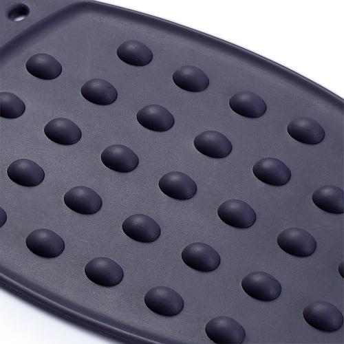 Prym - Bügeleisen Ablage Silikon - Klöppelwerkstatt - Bügeleisen‑Ablage aus pflaumenblauem Silikon, Patchwork, Quilten, Nähen Dämpfen