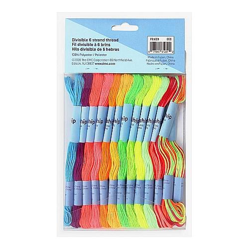 24 x teilbares Stickgarn ~ DMC , in der Klöppelwerkstatt erhältlich, zum Klöppeln, Sticken, für Freundschaftsbändchen und Kumihimo geeignet.