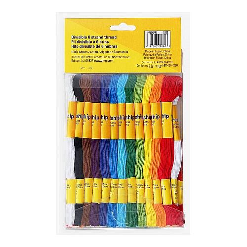 36 x teilbares Stickgarn ~ DMC , in der Klöppelwerkstatt erhältlich, zum Klöppeln, Sticken, für Freundschaftsbändchen und Kumihimo geeignet.